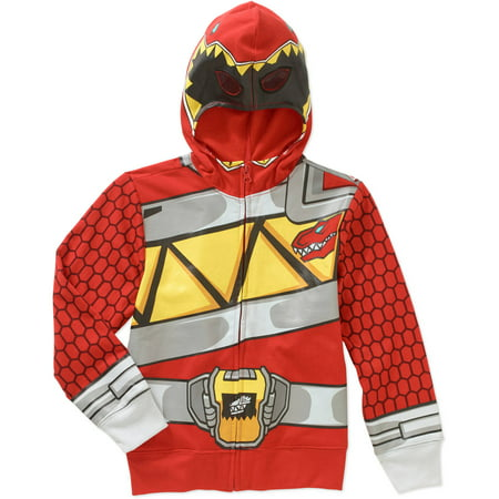 Red Ranger Boys Costume Hoodie - Boy Fireman Costume