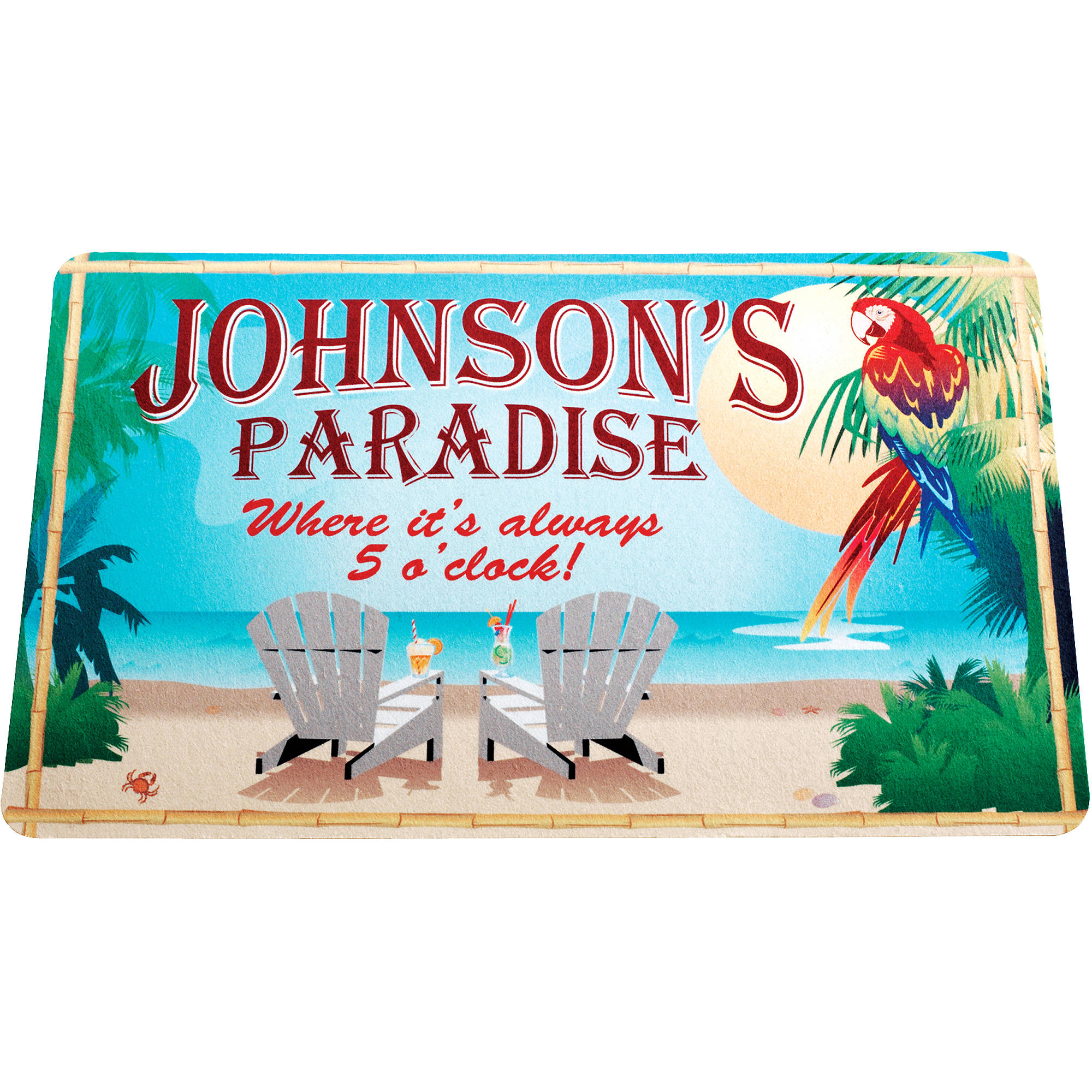 Personalized Paradise Door Mat
