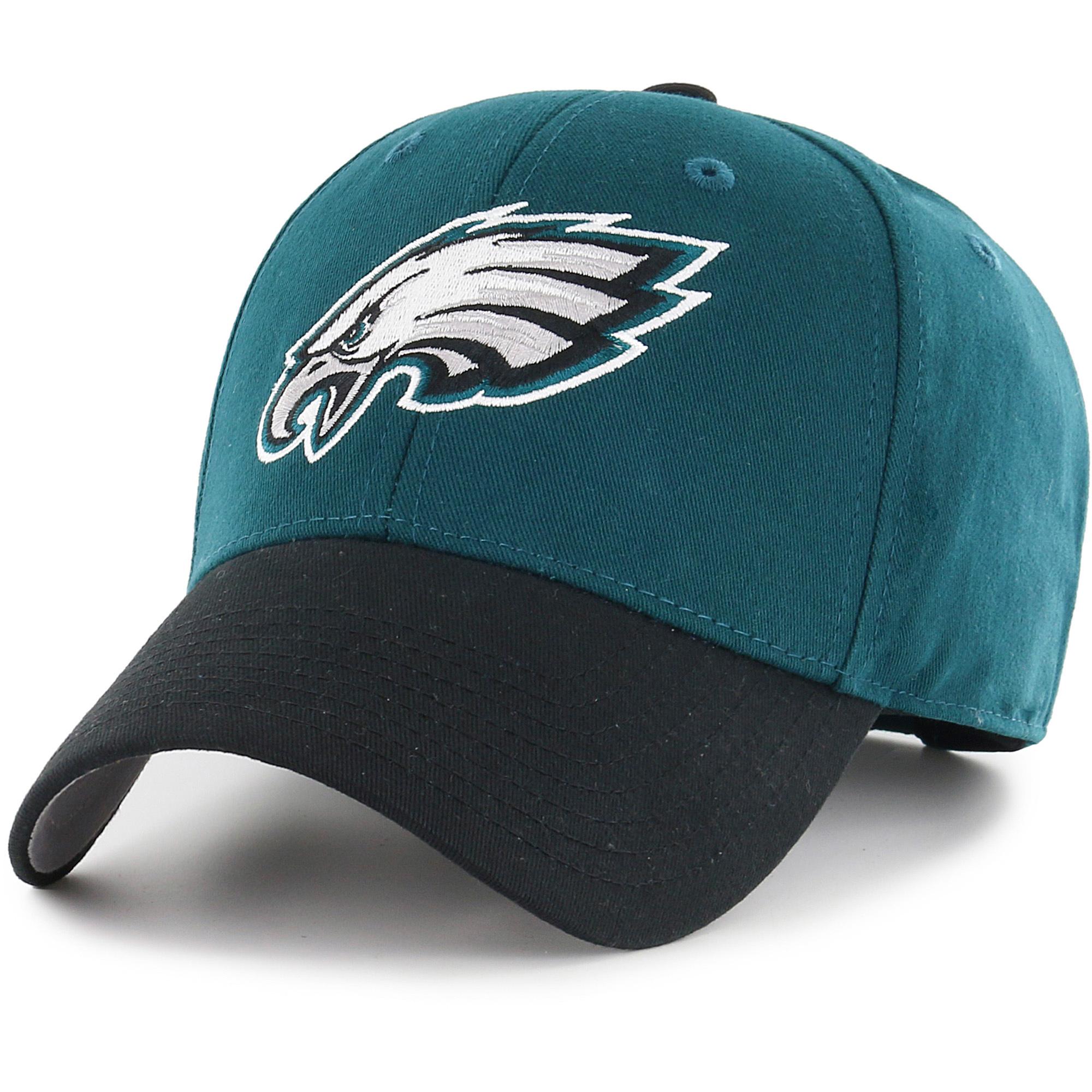 Men's Fan Favorite Green/Black Philadelphia Eagles Two-Tone Adjustable Hat - OSFA