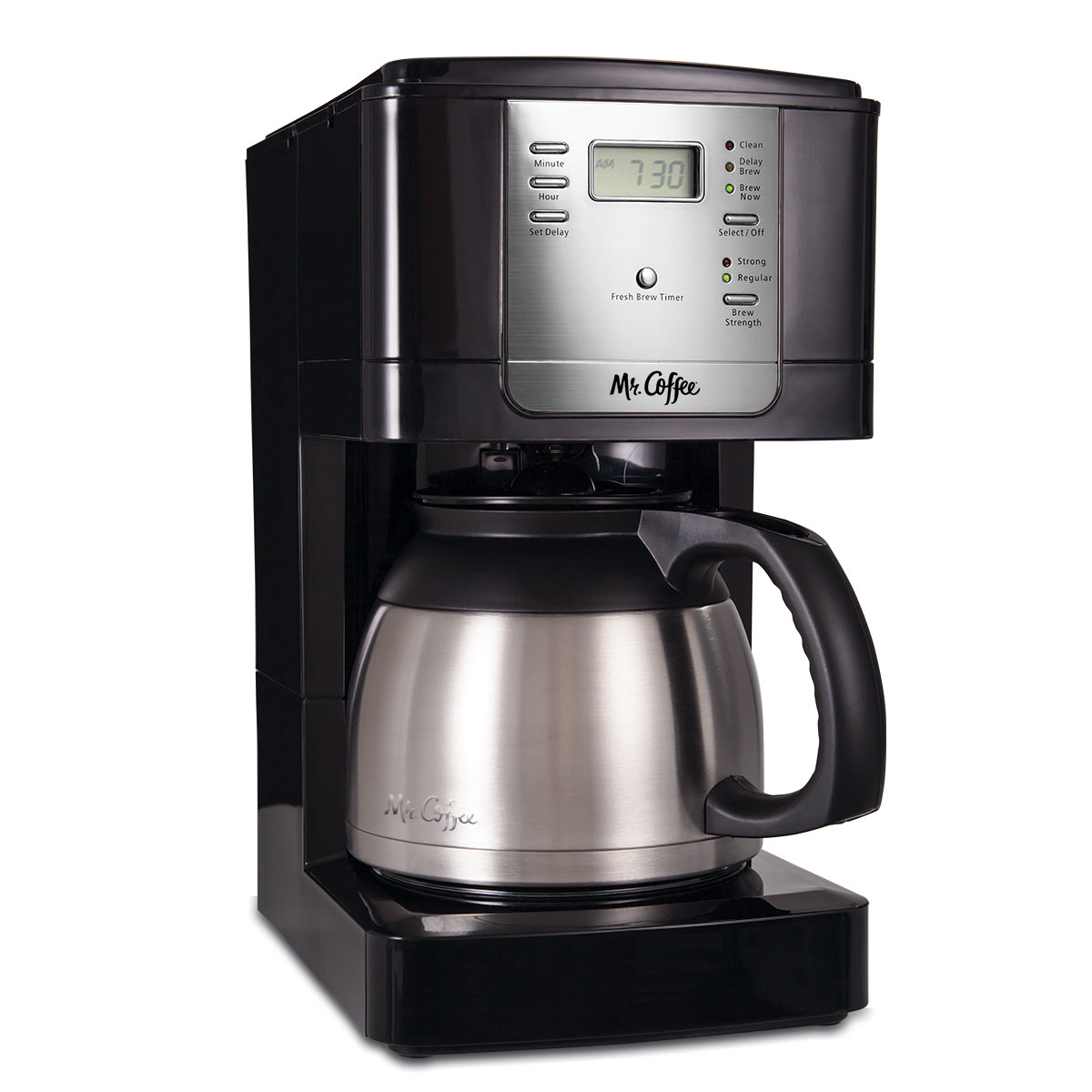 Mr. Coffee 8-Cup Thermal Programmable Coffee Maker, Stainless Steel (JWTX85)