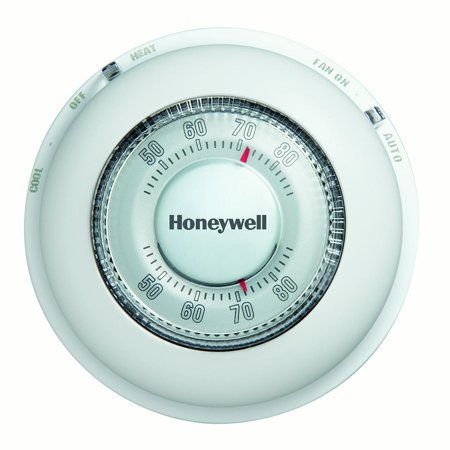 Honeywell The Round Non-Programmable Manual Thermostat, Heating and Cooling (CT87N1001/E1)