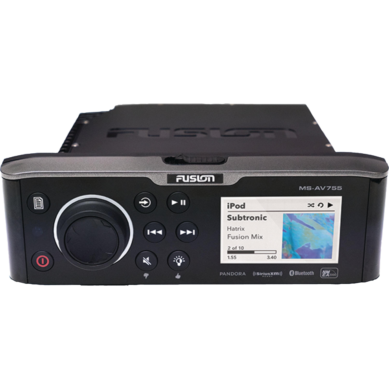 Fusion 010-01881-00 Black MSAV 755 Marine Stereo with DVD/CD Player