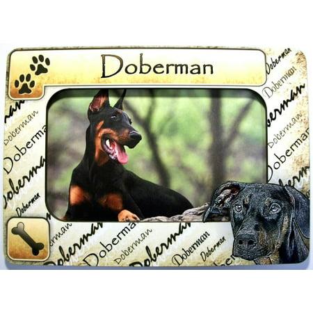 Doberman Dog Breed Picture Frame Fridge Magnet