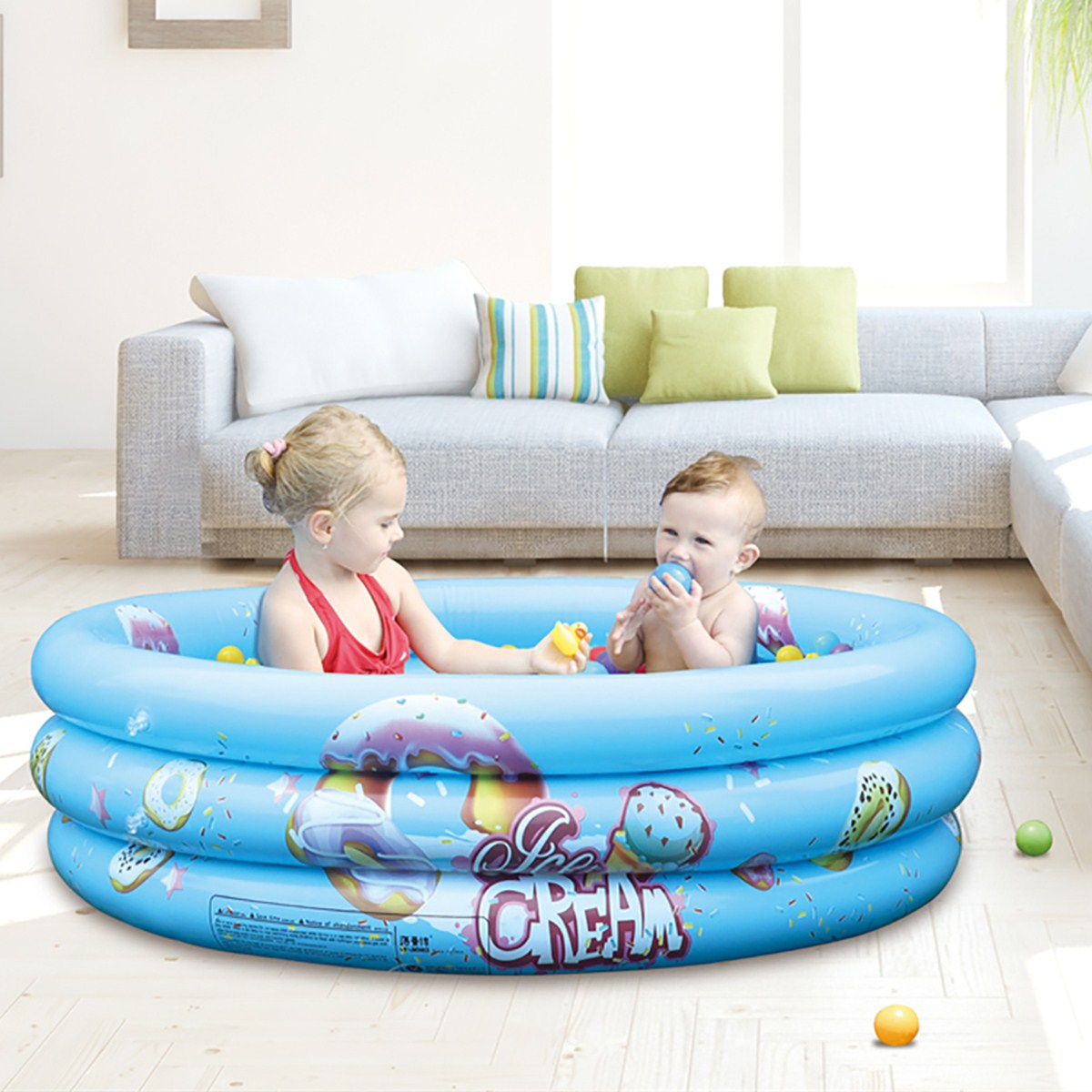 Baby Circle Shower Toy Inflatable Swimming Ring Float Collar Kid Water Pool Bath