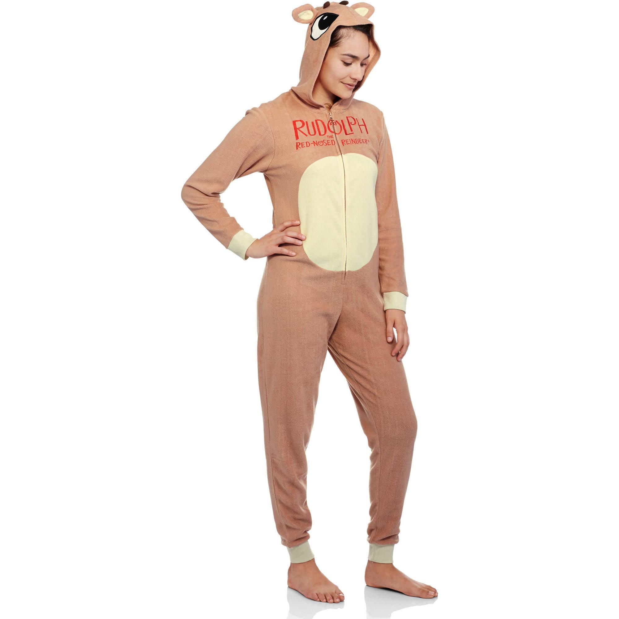 a98a86d9ecf1 RUDOLPH - Women s Sleepwear Adult Onesie Costume Union Suit Pajama -  Walmart.com