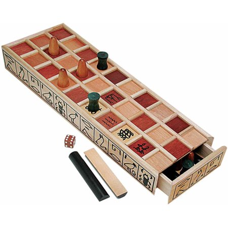 Wood Senet Game, An Ancient Egyptian Board Game