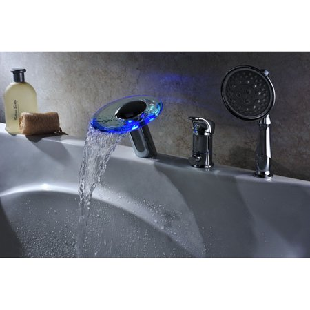 Sumerain International Group Single Handle Deck Mount Tub Faucet Set with Handheld Sprayer ()