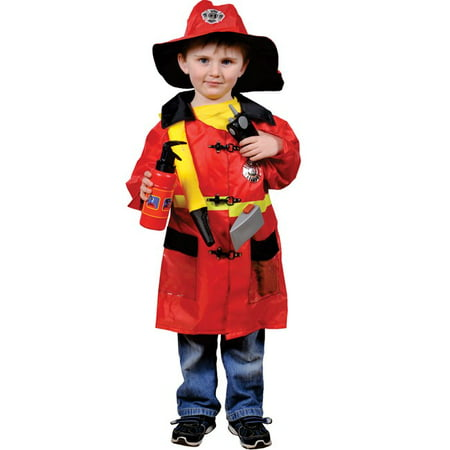 Fire Fighter Role Play Dress Up Set - Ages - Firefighter Dress Up