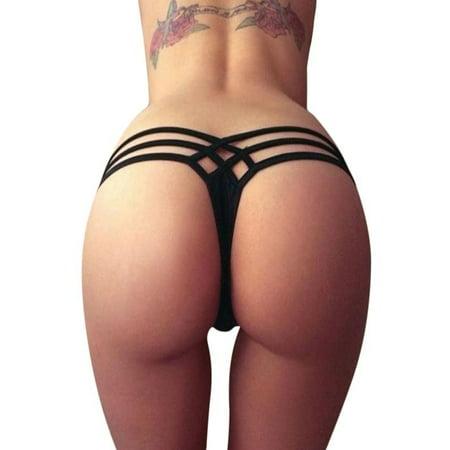 Women Sexy Bottoms Swimsuit Bikini Swimwear Cheeky Thong V Swim Trunks