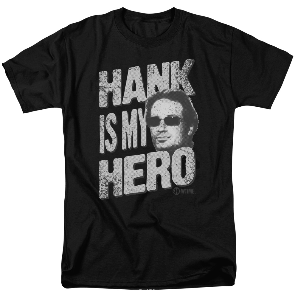 Californication Hank Is My Hero Mens Short Sleeve Shirt