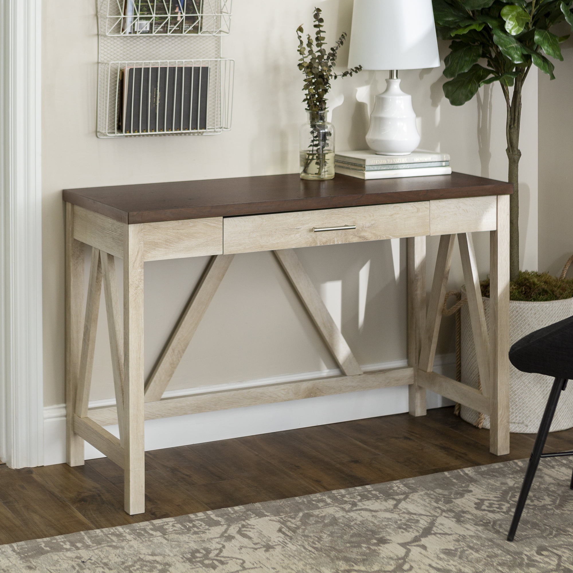Manor Park Rustic Farmhouse Computer Writing Desk With