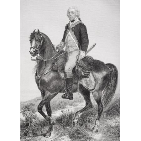 Henry Lee 1756   1818 Cavalry Officer In American Revolution Known As Light Horse Harry Father Of Robert E Lee From Painting By Alonzo Chappel Canvas Art   Ken Welsh  Design Pics  24 X 34