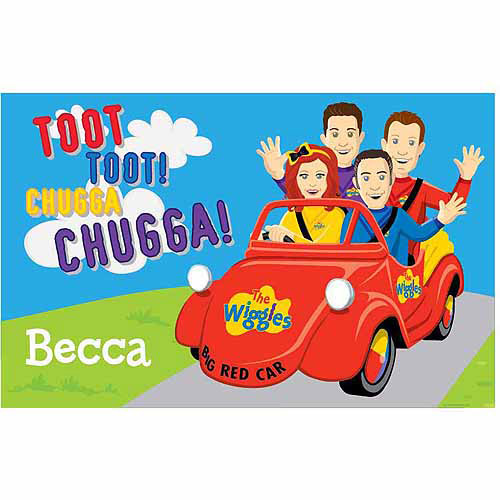 Personalized The Wiggles Big Red Car Placemat