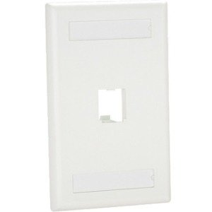 Panduit MINI-COM Classic Series Faceplates with Label and Label Cover - Faceplate - white - 1-gang - 1 port White Faceplate Cover