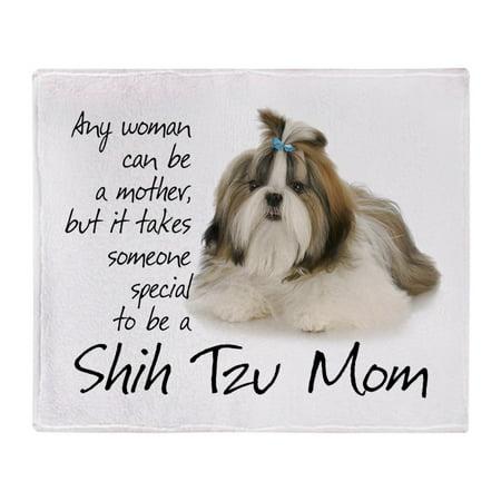 Shih Tzu Blanket (CafePress - Shih Tzu Mom - Soft Fleece Throw Blanket, 50
