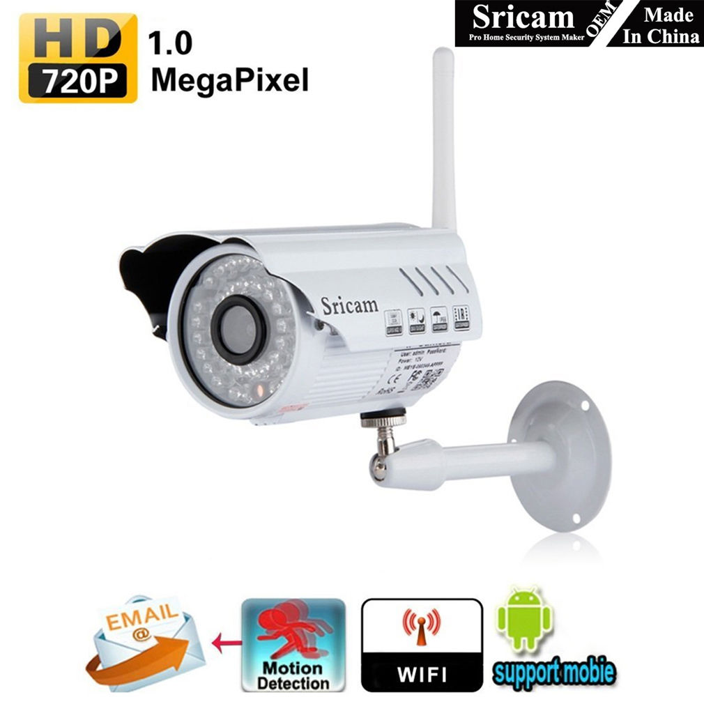 720P Wired Indoor Home Surveillance Camera System Wifi webcam with Night Vision and Motion Detection Home Security Camera