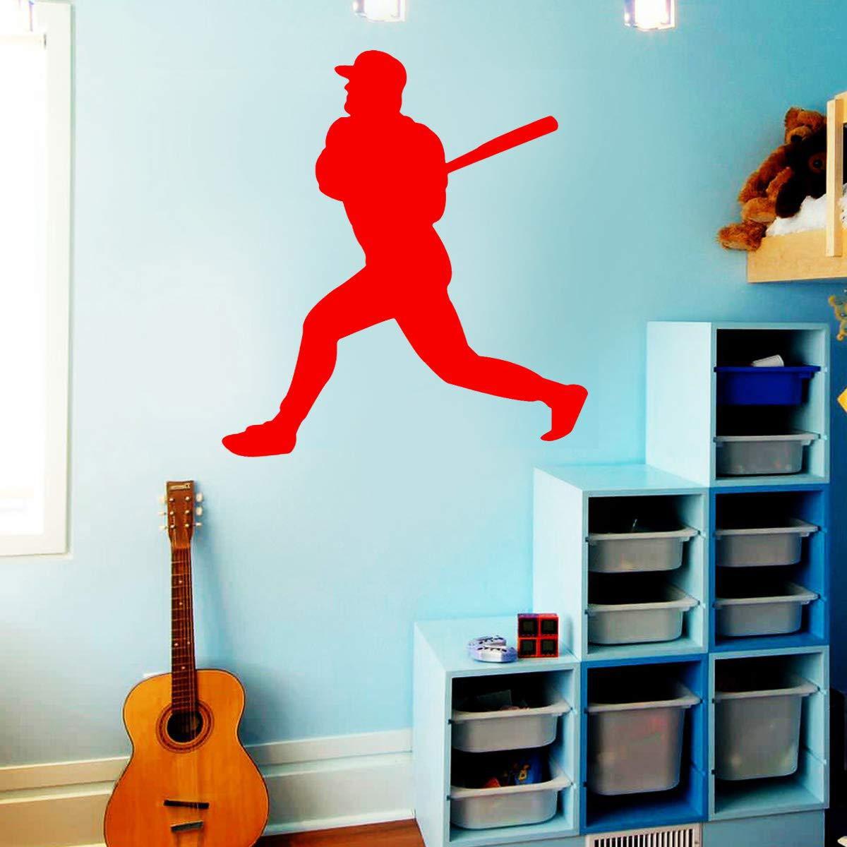 Vwaq Baseball Wall Decals For Boys Room Sports Vinyl Stickers Decor Walmart Com Walmart Com