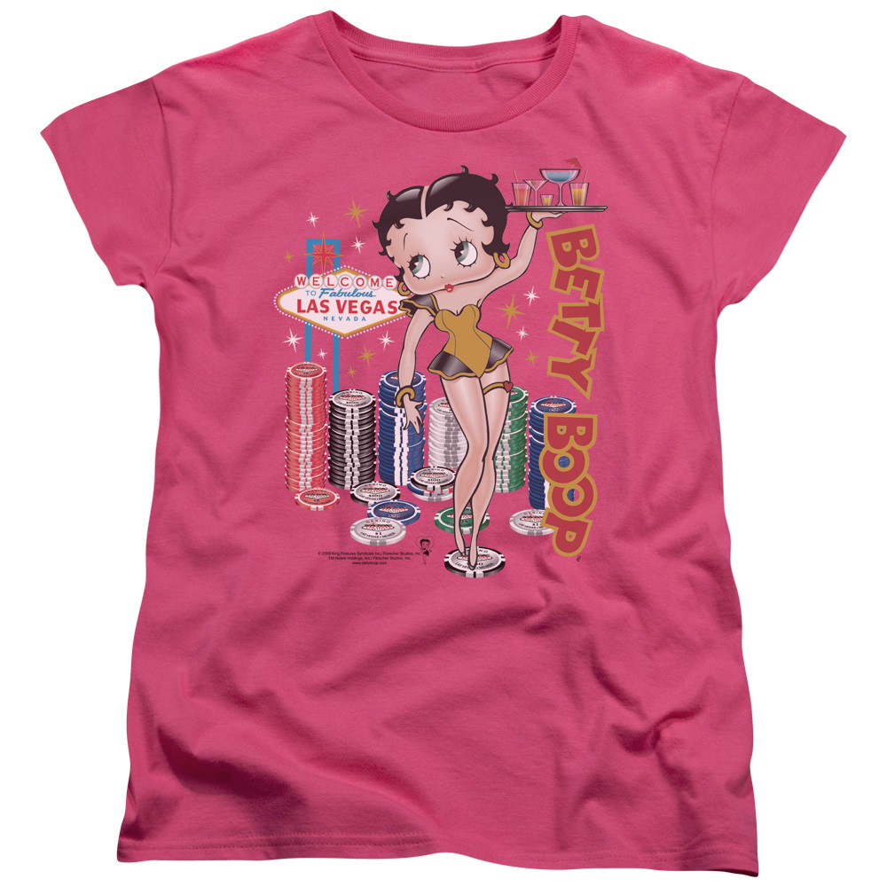Betty Boop Wet Your Whistle Womens Short Sleeve Shirt