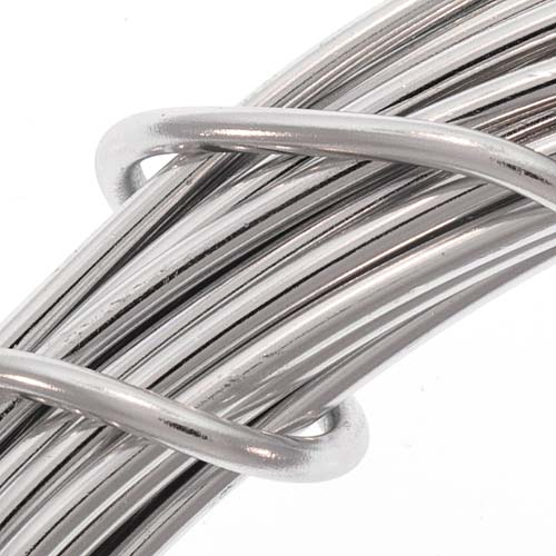 Aluminum Craft Wire Silver Color 12 Gauge 39 Feet (11.8 Meters)