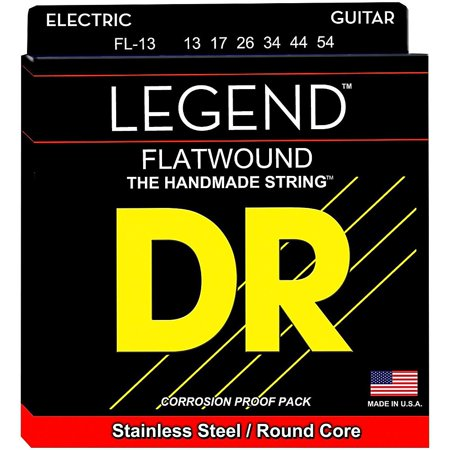 DR Strings Legend Medium Flatwound Electric Guitar Strings Flatwound Guitar Strings