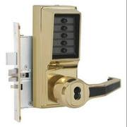 KABA SIMPLEX R8148B-03-41 Push Button Lockset,Right,Bright Brass