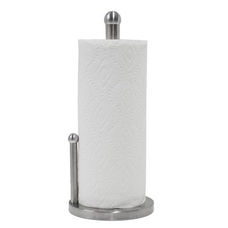 Oasis Collection Double Pole Stainless Steel Paper Towel Holder With Anti Slip Pad Base
