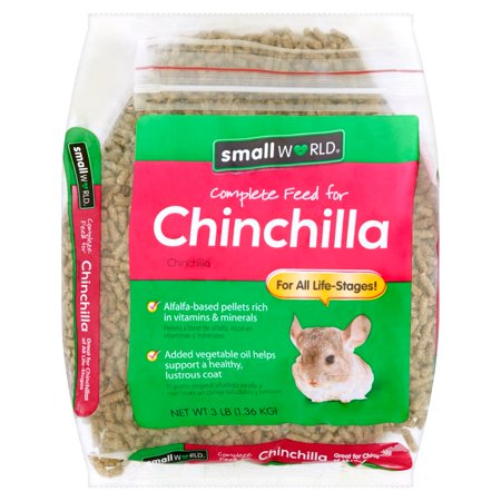 (2 pack) Small World Complete Feed for Chinchilla Food, 3 lbs.