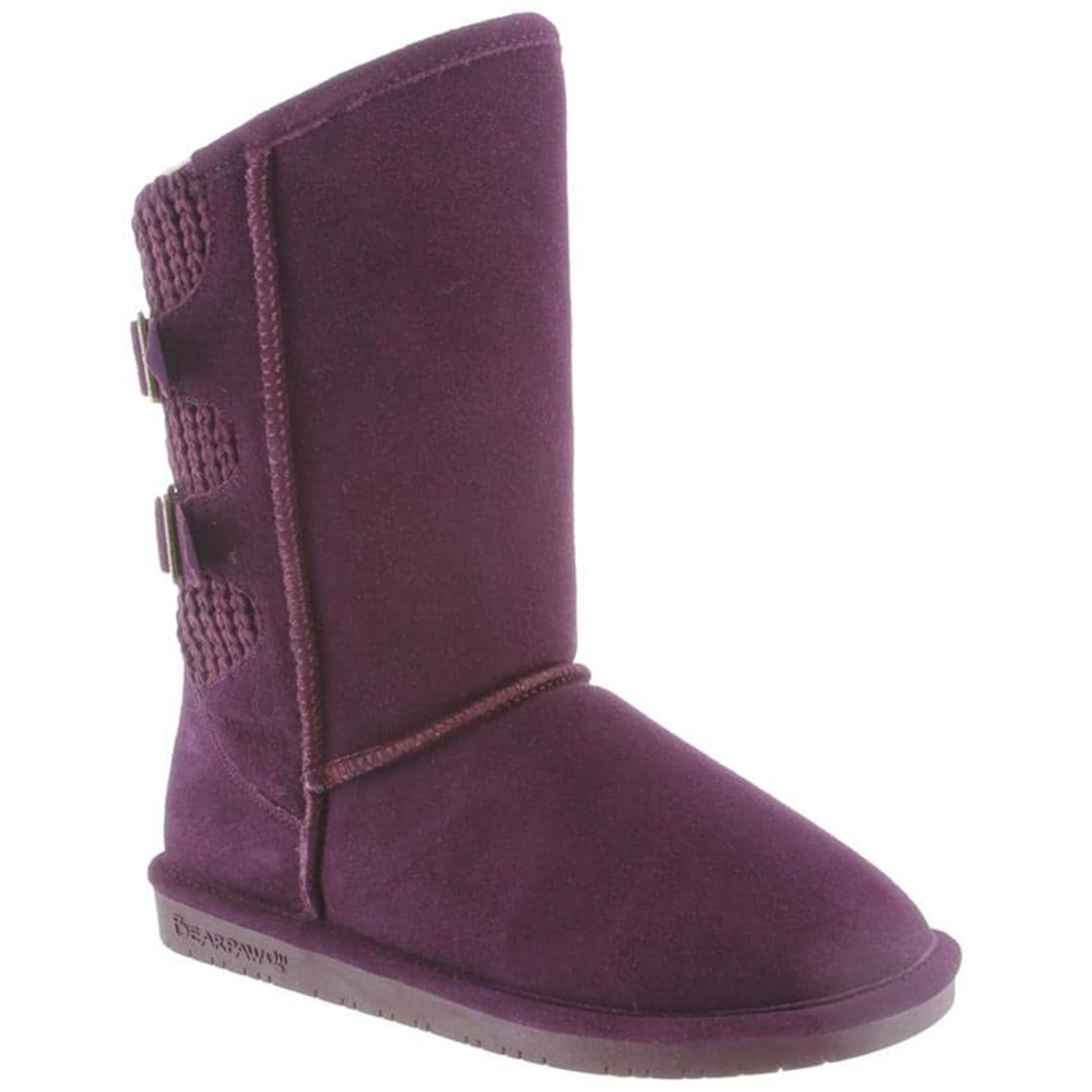 Bearpaw Women's Boshie Deep Purple Ankle-High Suede Boot 9M by Bearpaw