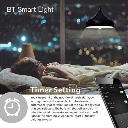 LIXADA 6W 550LM E27 Smart BT RGB & White RGBW LED Bulb Light Lamp Brightness Flashing Mode Adjustable for iPhone 6s/Plus Samsung Galaxy Smartphones App Control Multicolored Illuminative Indoor