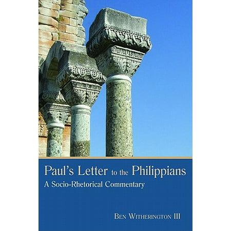 Paul's Letter to the Philippians : A Socio-Rhetorical
