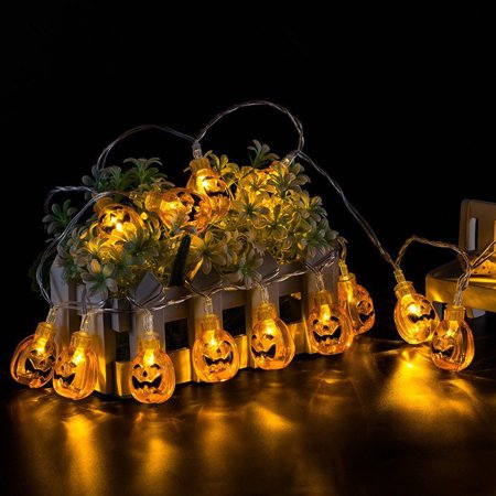 Halloween Decor Pumpkin LED String Lights Lanterns Lamp LED Hanging For DIY Home Outdoor Party Supplies