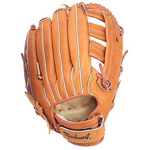 "13"" Triple Wide-T Web Softball Glove with Wrist Strap from Markwort - (Worn on Left Hand)"