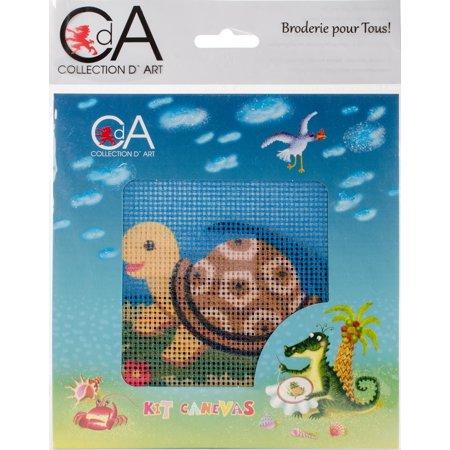 Collection D'art Stamped Needlepoint Kit 15X15cm-Tortoise - image 1 de 1