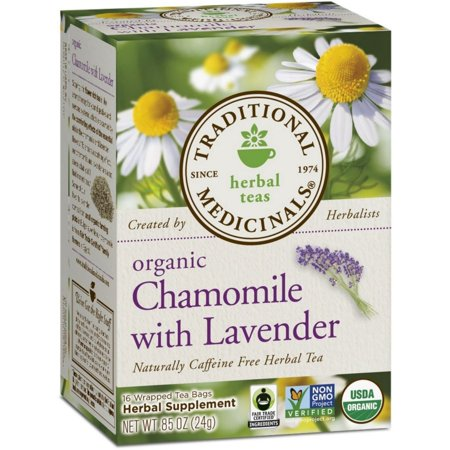 2 Pack - Traditional Medicinals Herbal Tea Bags, Organic Chamomile with Lavender 16 (Chamomile Lavender Herbal Tea)