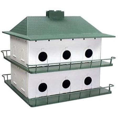 Round Martin House (12 Room Poly Purple Martin Bird House Durable and Light Weight Round Hol )