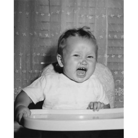 Posterazzi SAL2559719 Close-Up of a Baby Sitting in a High Chair & Crying Poster Print - 18 x 24 in. - image 1 de 1