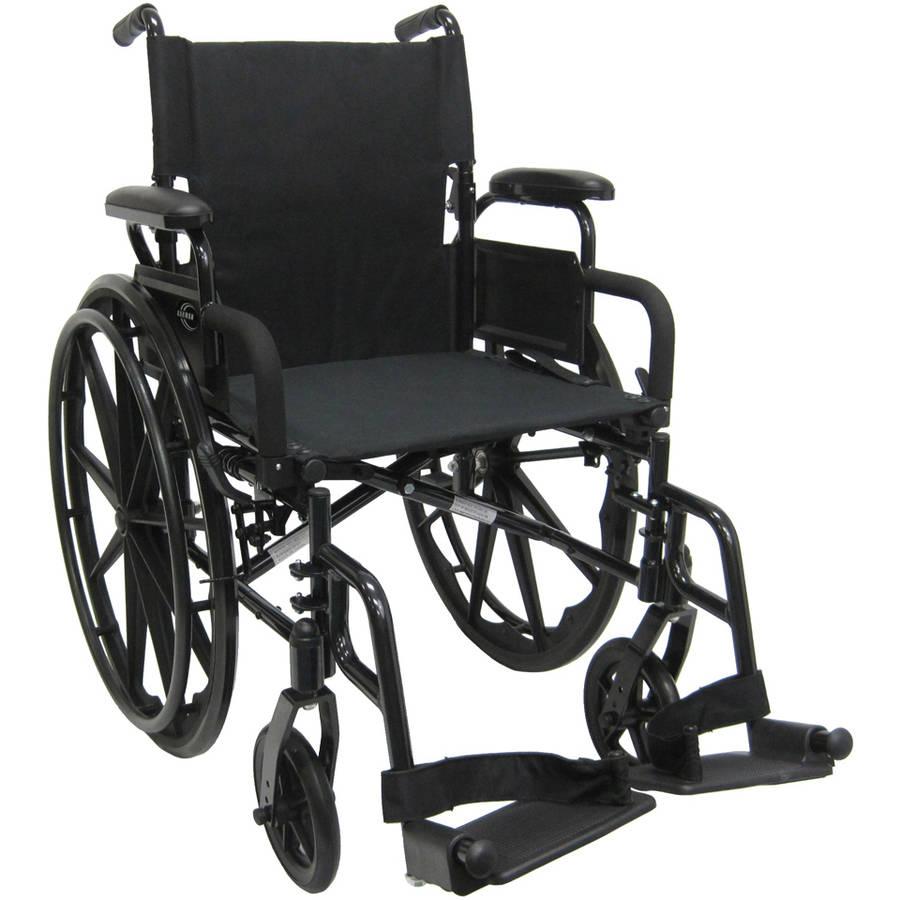 "Karman 802N-Dy 30 lbs Lightweight Wheelchair with Flip Back Armrest, 16"" Seat"