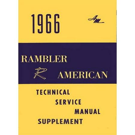 Bishko OEM Repair Maintenance Shop Manual Bound for Amc American 290 Cid V8 Engine Supp To 1966 1966 (1966 Motors Auto Repair Manual)