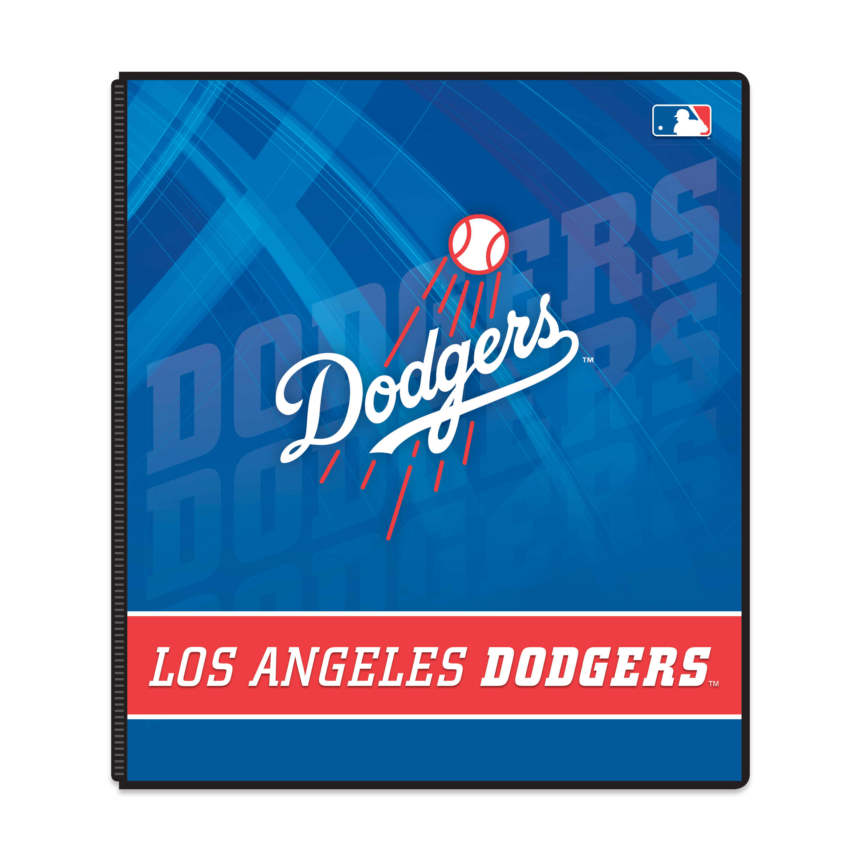 """MLB Los Angeles Dodgers 3 Ring Binder, 175 Sheet Capacity, 1"""" Metal Rings"""