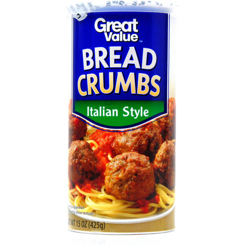 (5 Pack) Great Value Italian Style Bread Crumbs, 15 oz
