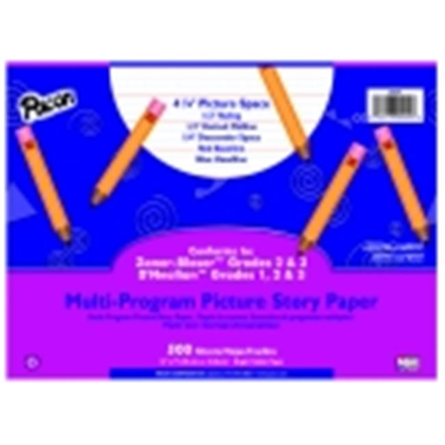 Pacon 12 x 9 in. Multi-Program Picture Story Paper, Grade K-1