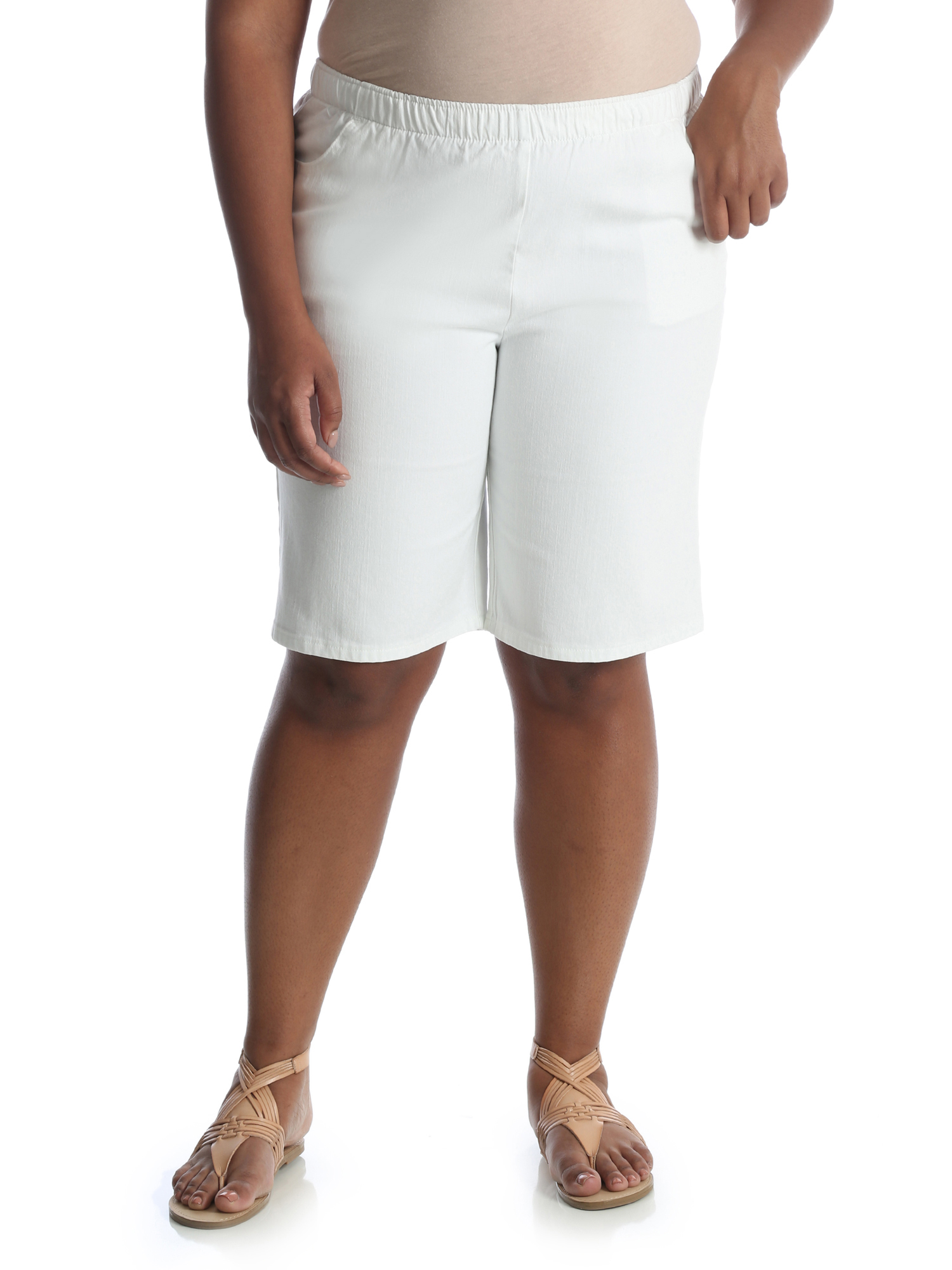 Women's Plus Stretch Pull On Bermuda Short