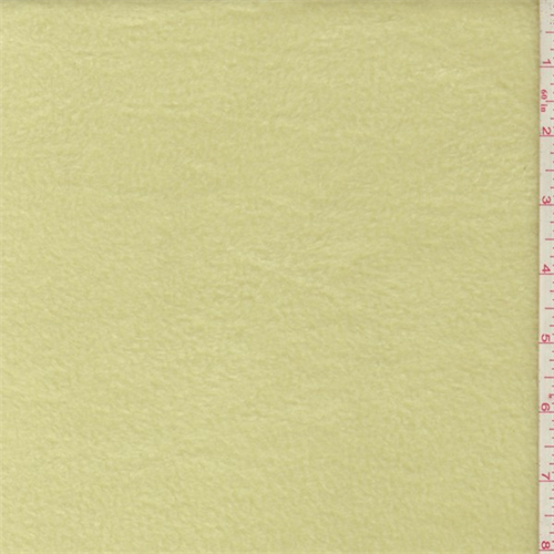 Soft Yellow Polyester Fleece, Fabric By the Yard