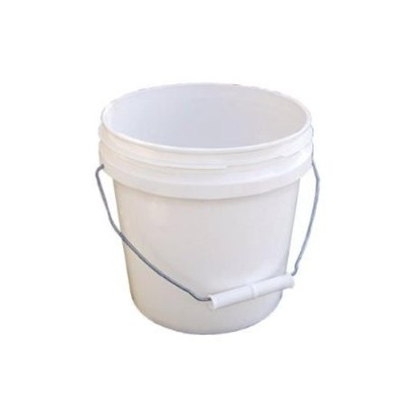 Encore Plastics 10128 Industrial Plastic Pail White with Handle, 1-Gallon