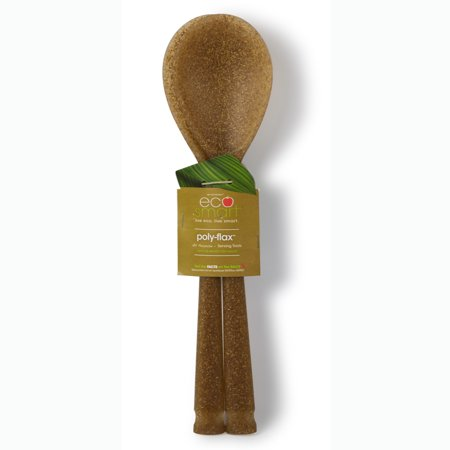 EcoSmart by Architec Polyflax Serving Spoons (Set of 2), Brown Brown Polycarbonate Serving Spoon
