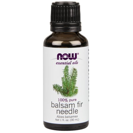 NOW Essential Oils, Balsam Fir Needle Oil, Woodsy Aromatherapy Scent, Steam Distilled, 100% Pure, Vegan, 1-Ounce Balsam Pine Scent Oil