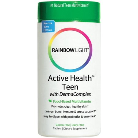 Rainbow Light Active Health Teen with DermaComplex Multivitamin Tablets 60 ea (Pack of 2)