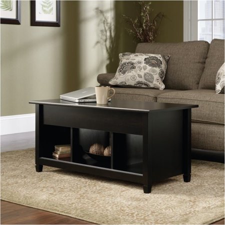 Pemberly Row Lift Top Coffee Table in Estate Black ()