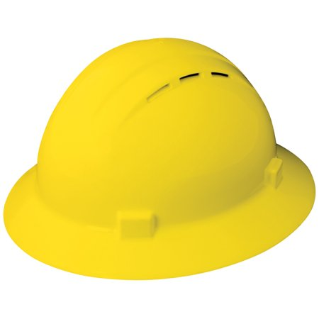 Americana Vent Full Brim Hard Hat, Yellow