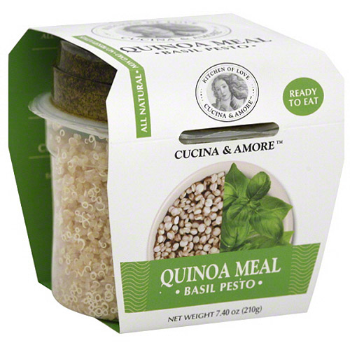 Cucina & Amore Basil Pesto Quinoa Meal, 7.9 oz, (Pack of 6) by